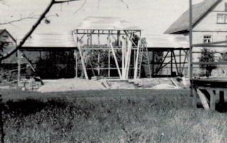 Bauarbeiten im Park Laucha