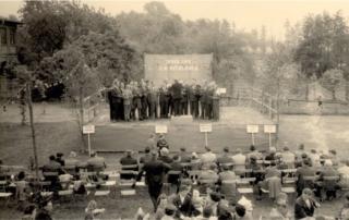 Veranstaltung im Park Laucha, Ende der 50er Jahre auf der Tanzbühne