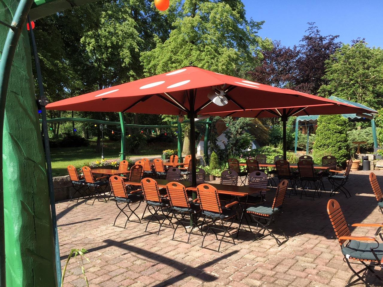 Parkgaststätte Laucha - Biergarten im Sommer